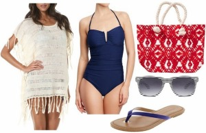 fourth-of-july-outfit-navy-swimsuit-flip-flops-white-coverup-red-tote