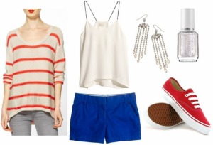 fourth-of-july-outfit-white-cami-blue-shorts-red-sneakers