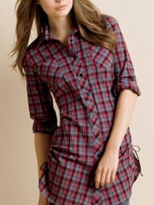 Plaid-Side-Cinch-Shirt-mdn