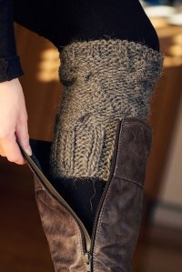 11-Cut-part-of-the-arm-off-of-an-old-sweater-to-make-boot-warmers-31-Clothing-Tips-Every-Girl-Should-Know-old-sweater