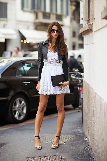 cropped-leather-jacket-and-white-lace-dress