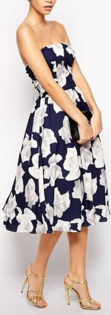 bandeau-floral-midi-dress